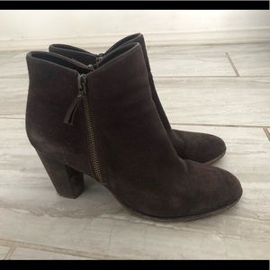 Cole Haan Brown Suede Ankle Booties Grand OS